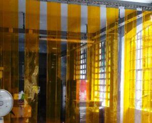 pvc cristal chiusure industriali a strisce