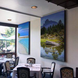Pannelli fonoassorbenti per ristorante