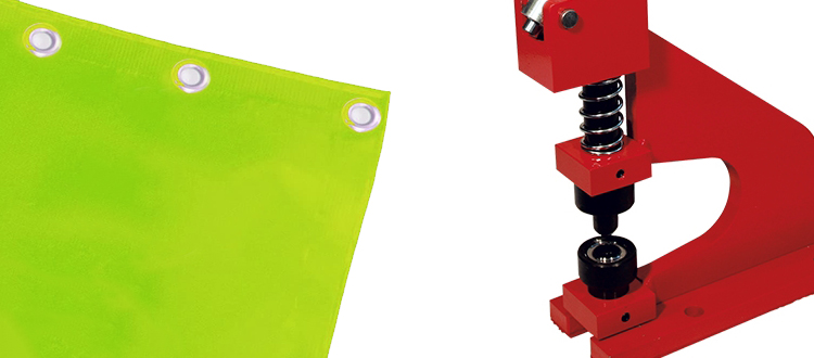 Occhiellatrice manuale per finishing stampa