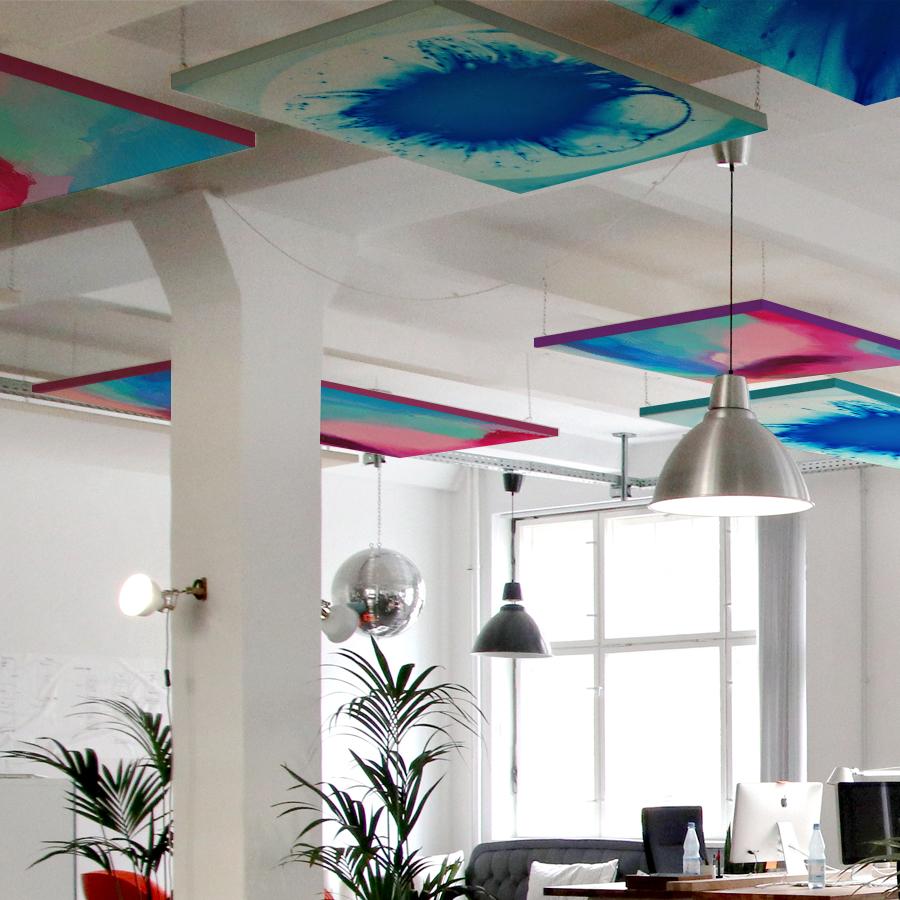Pannelli fonoassorbenti design a soffitto
