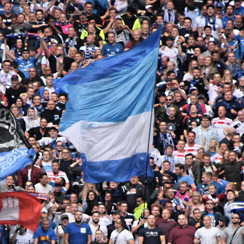 Bandiere da stadio grande formato con asta