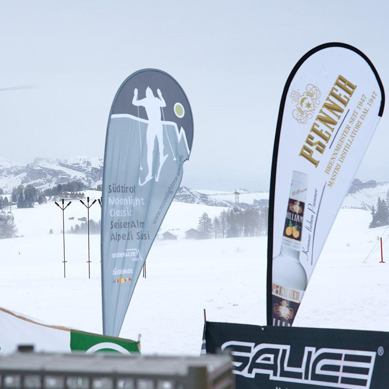 Bandiere pubblicitarie per eventi sportivi
