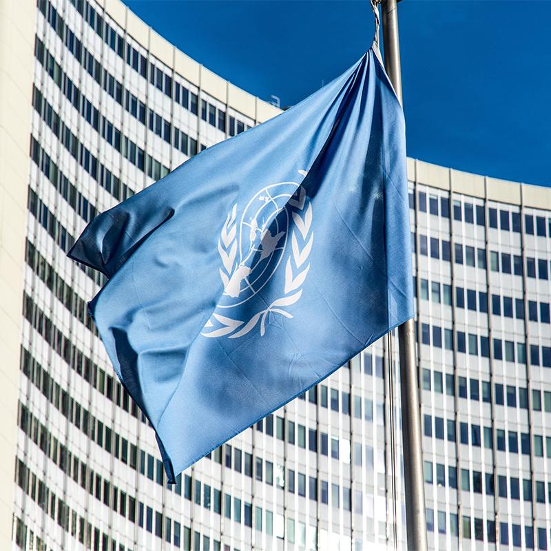 Bandiera dell'ONU per pennone
