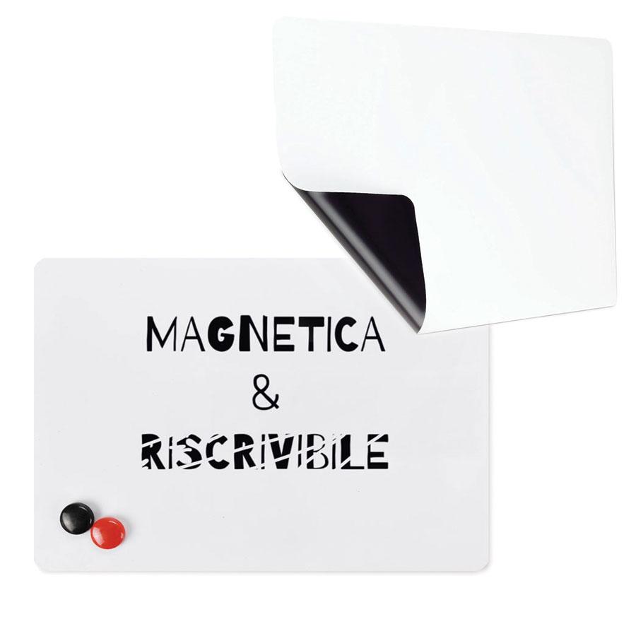 Lavagna bianca – whiteboard - riscrivibile + magnetica + proiettabile