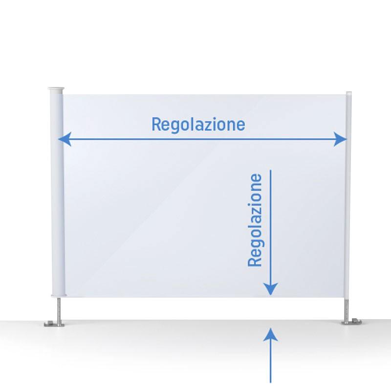 Cristal trasparente per barriere antidroplet personalizzate