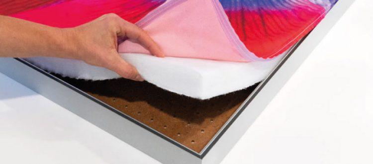 Quadri fonoassorbenti con stampa tessuto