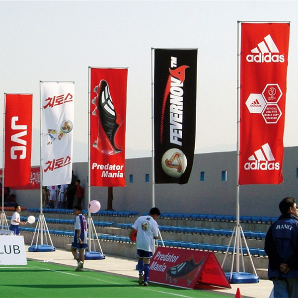 bandiere rettangolari per eventi